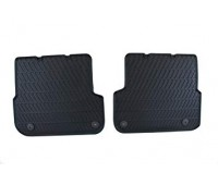 Резиновые задние коврики черные Audi A6, S6, RS 6