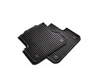 Резиновые задние коврики черные Audi A6, S6, A7, S7, RS 7