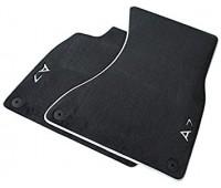 Текстильные коврики передние черные с серым кантом Audi A7, S7, RS 7