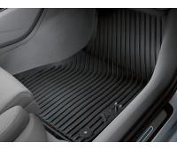 Резиновые передние коврики черные Audi A7, S7, RS 7