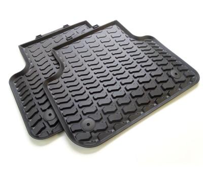 Резиновые задние коврики черные Audi Q7, SQ7