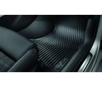 Резиновые передние коврики черные Audi A4, S4, RS 4
