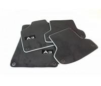 Текстильные коврики 4 шт. «черные с серым кантом» Audi A3, S3, RS 3