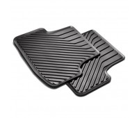Напольные резиновые коврики для задней части, без зажимов, цвет черный Audi A3, S3, RS 3