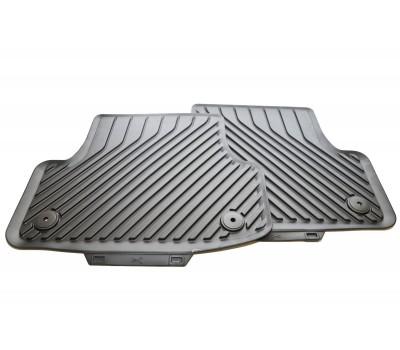 Резиновые задние коврики черные Audi A3, S3, RS 3