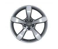 Зимний литой алюминиевый диск в дизайне с 5 сегментированными спицами «серебристо-бриллиантовое», 6 J x 16 Audi A1, S1