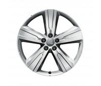 Зимний литой алюминиевый диск в дизайне с 5 спицами Crena «Серебристо-бриллиантовый», 8 J x 20 Audi Q7, SQ7