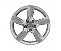 Зимний литой алюминиевый диск в дизайне с 5 спицами Helica черный матовый, 6 J x 17 Audi A3