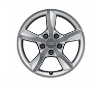 Зимний литой алюминиевый диск в дизайне с 5 спицами Rotor «серебристо-бриллиантовое», 6 J x 16 Audi A3