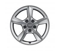Зимний литой алюминиевый диск в дизайне с 5 спицами Rotor «серебристо-бриллиантовое», 6,5 J x 16 Audi A3
