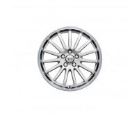 Алюминиевый литой диск в 15-спицевом дизайне «серебристо-бриллиантовый», доведенный до блеска, 9 J x 18 Audi TT, TTS