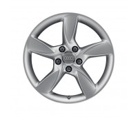 Литой алюминиевый диск в дизайне с 5 спицами Helica «серебристо-бриллиантовое», 7,5 J x 17 Audi A3