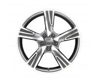 Литой алюминиевый диск в дизайне с 5 спицами Velum черный матовый, доведенный до блеска, 7,5 J x 18 Audi A3