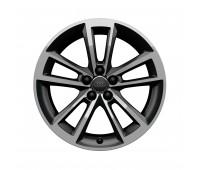 Литой алюминиевый диск, дизайн с 5 многоугольными спицами «антрацит», доведенный до блеска, 7,5 J x 17 Audi A1