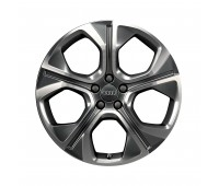 Литой алюминиевый диск, дизайн с 5 многоугольными спицами «антрацит», 7,5 J x 18 Audi A1