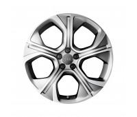 Литой алюминиевый диск, дизайн с 5 многоугольными спицами «серебристый» матовый, 7,5 J x 18 Audi A1