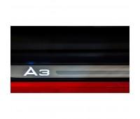 """Молдинги порогов с подсветкой, с надписью """"A3"""" Audi A3"""