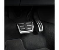 Набор накладок на педали из высококачественной стали для автомобилей с автоматической коробкой передач Audi A4, A5, Q5