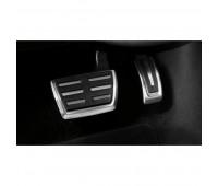 Набор накладок на педали из высококачественной стали для автомобилей с автоматической коробкой передач Audi Q7