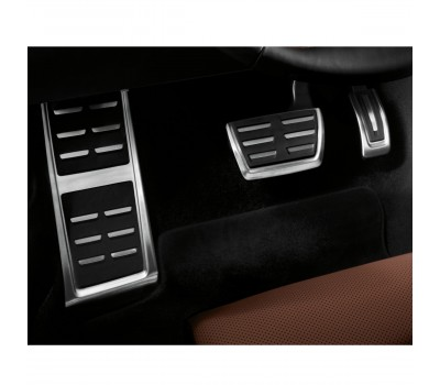 Опора для ноги и накладки на педали из высококачественной стали для автомобилей с автоматической коробкой передач Audi A3, Q2, TT