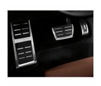 Опора для ноги и накладки на педали из высококачественной стали для автомобилей с автоматической коробкой передач Audi A4, A5, Q5