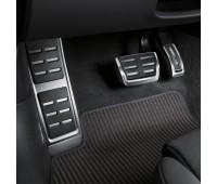 Опора для ноги и накладки на педали из высококачественной стали для автомобилей с автоматической коробкой передач Audi A4, RS 4, A5, RS 5