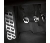 Опора для ноги и накладки на педали из высококачественной стали для автомобилей с автоматической коробкой передач Audi A1