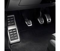 Опора для ноги и накладки на педали из высококачественной стали для автомобилей с механической коробкой переключения передач Audi A3, Q2, TT