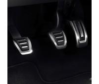Набор накладок на педали из высококачественной стали для автомобилей с механической коробкой переключения передач Audi A4, RS 4, A5, RS 5, Q5