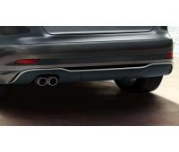 Задний диффузор для автомобилей с двойной выхлопной трубой слева, цвет черный матовый Audi A3
