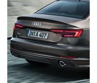 Задний диффузор для автомобилей с одинарной выхлопной трубой слева, цвет черный матовый Audi A1, S1