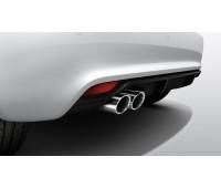 Задний диффузор для автомобилей с задними противотуманными фонарями и двойной выхлопной трубой, с загрунтованной поверхностью Audi TT