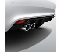 Задний диффузор для автомобилей с двойной выхлопной трубой, с загрунтованной поверхностью Audi A1