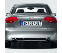 Задний диффузор для автомобилей с двойной выхлопной трубой, левой, с загрунтованной поверхностью Audi A4
