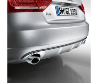 Задний диффузор с накладкой для автомобилей с двойной выхлопной трубой, левой, с загрунтованной поверхностью Audi A5