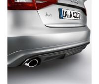 Задний диффузор с накладкой для автомобилей с двойной выхлопной трубой, левой, с загрунтованной поверхностью Audi A4