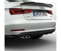 Задний фартук черный бриллиант Audi A3