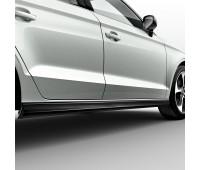 Комплект боковых порожков черный бриллиант Audi A3