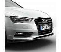 Передний спойлер черный бриллиант Audi A3