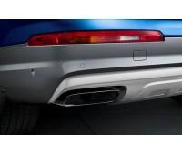 Спортивные насадки на выхлопную трубу для автомобилей с двигателем 2.0 TFSI и одинарной выхлопной трубой, левой/правой, черной хромированной Audi Q7