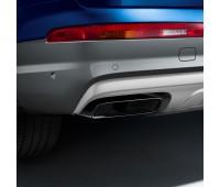 Спортивные насадки на выхлопную трубу для автомобилей с двигателем 3.0 TDI и одинарной выхлопной трубой, левой/правой, черной хромированной Audi Q7