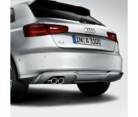 Спортивные насадки на выхлопную трубу для автомобилей с левой двойной выхлопной трубой, серебристо-хромированной Audi A3