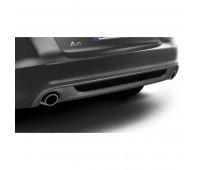 Спортивные насадки на выхлопную трубу для автомобилей с левой/правой одинарной выхлопной трубой, серебристо-хромированной Audi A6