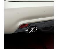 Спортивные насадки на выхлопную трубу для автомобилей с двойной выхлопной трубой, левой, с матовой алюминиевой отделкой Audi A1, A3