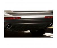 Спортивные насадки на выхлопную трубу для автомобилей с левой/правой одинарной выхлопной трубой, серебристо-хромированной Audi Q7