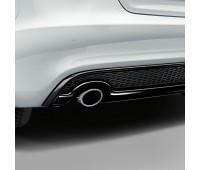 Спортивная насадка на выхлопную трубу для автомобилей с левой одинарной выхлопной трубой, серебристо-хромированной Audi A3