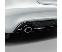 Спортивная насадка на выхлопную трубу для автомобилей с левой одинарной выхлопной трубой, серебристо-хромированной Audi A4, A5, S5
