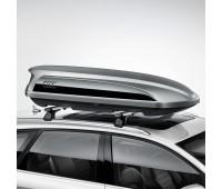 Бокс для лыж и багажа цвет «серая платина» с боковой накладкой «черный бриллиант», 300 l Audi